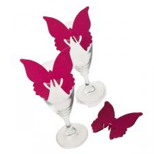 Pink Butterfly Place Cards - 10 Pack