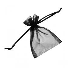 Black Organza Favour Bag - 3 X 4 Inch