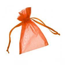 Orange Organza Favour Bag - 3 X 4 Inch