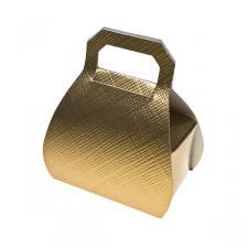 Gold Silk Handbag Favour Box