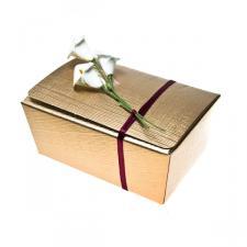 Gold Silk Medium Ballotin Favour Box