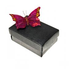 Black Silk Medium Rectangular Box & Lid Favour Box