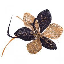 Gold & Black Amarylis Clip - 15cm