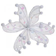 Ivory Sheer Flower Clip - 20cm