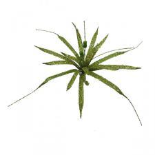 Olive Green Glitter Clematis Flower - 30cm