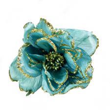 Turquoise Decorative Flower - 15cm