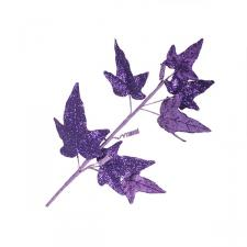 Purple Glitter Finish Ivy Spray - 68cm