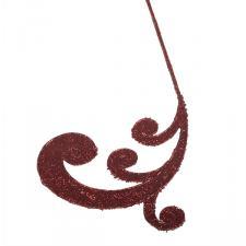 Burgundy Glitter Finish Regal Swirl Pick - 53cm