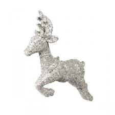 Leaping Silver Deer Hanging Decoration - 23cm X 18cm X 5cm