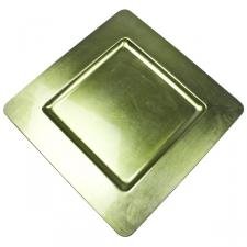 Standard Lime Green Square Charger Plate - 33cm x 33cm