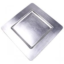 Standard Silver Square Charger Plate - 33cm x 33cm