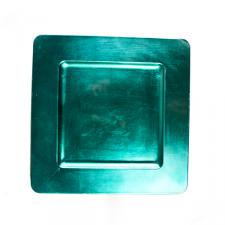 Standard Turquoise Square Charger Plate - 33cm x 33cm