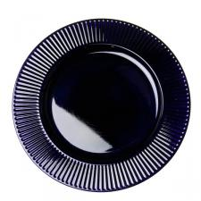 Embossed Bevelled Rim Purple Round Charger Plate - 33cm Diameter