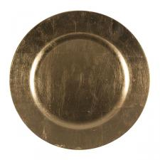 Luxury Lacquer Finish Gold Round Charger Plate - 33cm Diameter