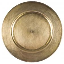 Standard Antique Gold Round Charger Plate - 33cm