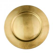 Standard Gold Round Charger Plate - 33cm