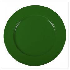 Standard Green Round Matt Charger Plate - 33cm