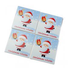 Santa Coasters - 4 Pack