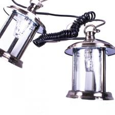 5m Set Of 8 Outdoor Pewter Plated Brass Round Lanterns - Rechargeable