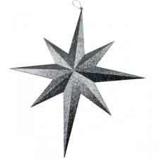 8 Point Silver Glitter Star - 60cm