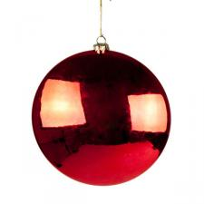 Red Disc Hanging Decoration - 20cm