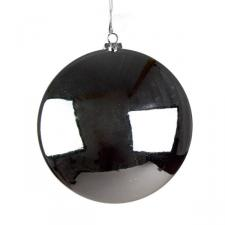 Silver Disc Hanging Decoration - 20cm