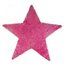 Pink Glittering Sisal Display Star Decoration - 40cm