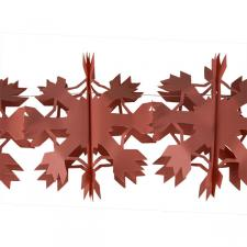 4m Snowflake Flame Resistant Paper Garland -  Dark Orange