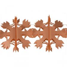 4m Snowflake Flame Resistant Paper Garland -  Orange