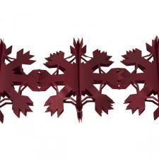 4m Snowflake Flame Resistant Paper Garland -  Red