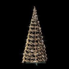 Festilight 4m Indoor & Outdoor 3D Silver Spiral Tree With 2400 With Warm White Flashing LED's