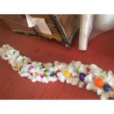 3m White Garland With Sweetie Coloured Baubles