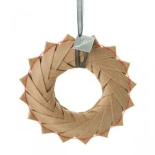 Squared Rose Origami Wreaths- Kraft Paper 8cm