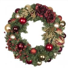 Traditional Theme Range - 60cm Pre-Decorated Wreath