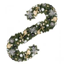 Ebony Champagne Theme Range - 2.7m x 35cm Pre-Decorated Garland