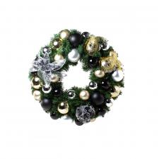 Ebony Champagne Theme Range - 60cm Pre-Decorated Wreath