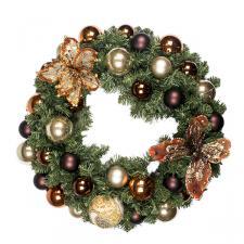 Chocolate Orange Theme Range - 60cm Pre-Decorated Wreath