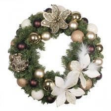 Antique Chic Theme Range - 60cm Pre-Decorated Wreath