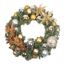 Precious Metals Theme Range - 60cm Pre-Decorated Wreath