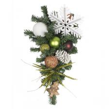 Winter Woodland Theme Range - 60cm Pre-Decorated Teardrop