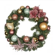 Nostalgic Christmas Theme Range - 60cm Pre-Decorated Wreath