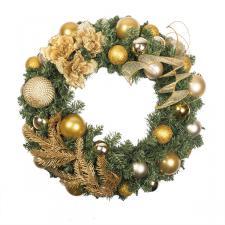 Pure Gold Theme Range - 60cm Pre-Decorated Wreath