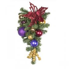 Spiced Wine Theme Range - 60cm Pre-Decorated Teardrop