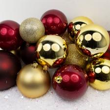 Bauble Pack - Red Gold Burgundy Baubles