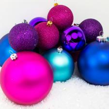 Bauble Pack - Pink Purple Turquoise Baubles