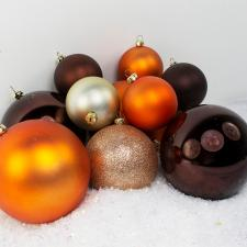 Bauble Pack - Champagne Gold Copper Brown Baubles