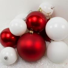 Bauble Pack - Red White Baubles