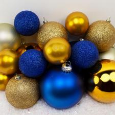 Bauble Pack - Blue Champagne Gold Baubles