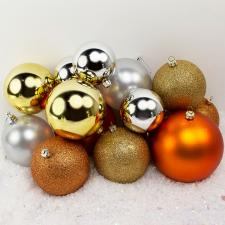 Bauble Pack - Gold Silver Copper Baubles
