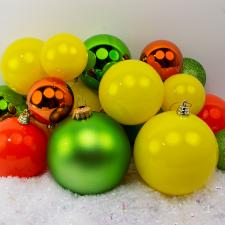 Bauble Pack - Lime Green Orange Yellow Baubles